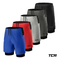 TCA Mens Ultra 2 in 1 Run / Training Shorts with Compression Short & Back Pocket