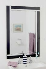 Large Wall Mirror Very Modern Black and Silver Bathroom Venetian 3ft X 2ft