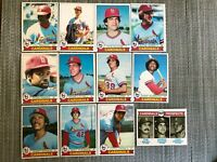 1979 ST. LOUIS CARDINALS Topps Baseball Team Lot 12 Cards+ 4 Ex. LOU BROCK!