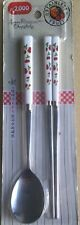 Korean Stainless Steel Spoon and Chopsticks Set,  Cherry Picture tableware. NEW
