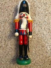 """14"""" WOODEN NUT CRACKER SOLDER WITH SWORD MOUTH OPENS"""