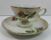 Demitasse Footed Cup and Saucer Made In Japan Collectible Vintage Mini