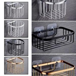 Shower Rack Shelf Bathroom Corner Storage Organiser Basket Suction Shelf Tidy