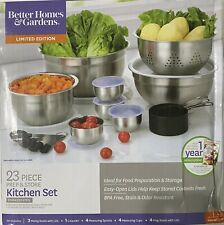 Better Homes and Gardens 23 Piece SS Prep & Kitchen Set Silver