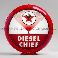 """Texaco Diesel Chief 13.5"""" Gas Pump Globe w/ Red Plastic Body (G193)"""
