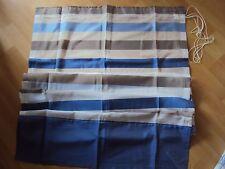 Raffrollo Faltrollo Klettband transparent blau weiß braun Streifen B/H 80 x 170