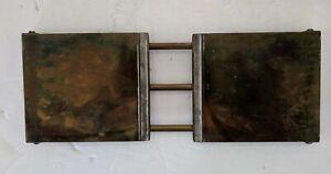 Antique Bradley & Hubbard Brass Expandable Book Shelf Case