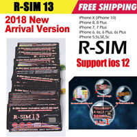 RSIM 13+ 2018 R-SIM Nano Unlock Card Fits iPhone X/8/7/6/6s/5S/ 4G iOS 10 11 12