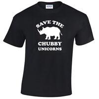Save The Chubby Unicorns Mens Funny T Shirt S-5XL rhino gift unicorn gift