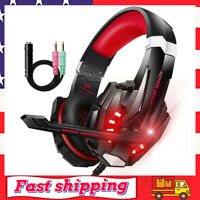 Gaming Headset Stereo Headphone PC Earphone w/ Mic For PS4 Laptop Xbox One