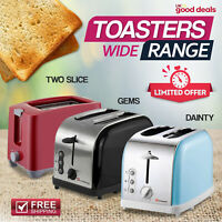 Electric Toaster 2 Wide Slot Slice Bagel Toasters Toast Reheat Defrost Function