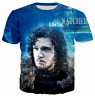 New Fashion Women/Men Game of Thrones 3D Print Casual T-Shirt TK23