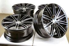18 5x114.3 Black Staggered Wheels Fits ES300 ES330 Camry Sebring Eclipse Rims