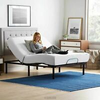 Electric Adjustable Bed Base Steel Frame Queen Size Wired Remote Free Shipping