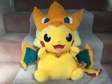 Pokemon Center 2015 Mega Charizard Y Pikachu Plush Jumbo 55cm Japan NEW