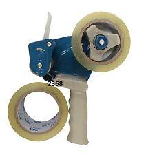 2 Inch Packaging Cutter Tape Gun Blue + 2 Rolls Tape
