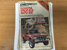 Chilton Repair Manual for Toyota Trucks 1970-88. Part No. 7035