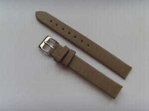 Watch Strap Leather Grey 12 MM To Screw For E.g. Skagen BERING Boccia Obaku