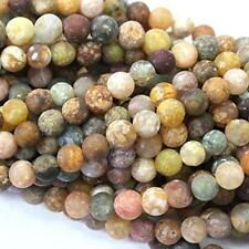 Natural Unpolished Colorful Ocean Agate Round Jewerlry Making Gemstone Beads (6m