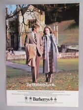 Burberry Clothing PRINT AD - 1979 ~~ Dillington House, Somerset, Burberrys