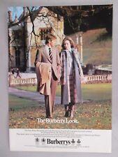 Burberry Clothing PRINT AD - 1979 ~~ Dillington House, Somerset, Burberrys