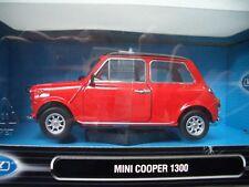 Mini Cooper 1300  1:24  Welly  NEU & OVP  Rot-Schwarz