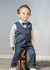 Baby Boy Suit GENTILUOMO Grigio Verificato Vestito Smart Festa Natale