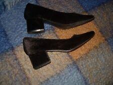 parisina zapato D 'Angela Salón Negro cómodo planta piel y como terciopelo todo