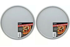 "2 X Cooking Concepts Bakeware Steel Pizza Pan 12"" Inch Pie Pizza 🍕 Free Ship"