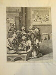 Otto VAN VEEN ( 1556 - 1629) GRAVURE XVII° MANIERISME MYTHOLOGIE FLANDRES 1607 q