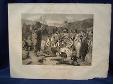 PREDICATION DE ST.JEAN BAPTISTE. LITHO. REVUE POETIQUE SALON DE 1840. REF 2815