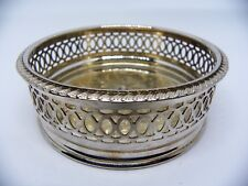 Vintage Decorative Apex Silver Plated Wine Coaster Made in England
