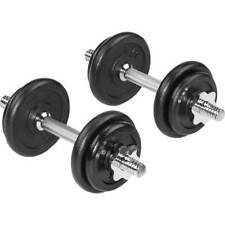 BCG Adjustable 40LB Dumbbell Set Bar & Plates w/ Case Weight Lifting Home Gym