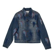 NWT FAITH CONNEXION Ntmb Blue Thunder Patch Denim Jacket Size L $422