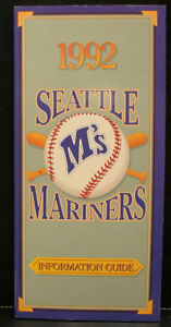 1992 Seattle Mariners Official Media Press Guide, 236 Pages of Facts & Fun!