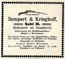 Sempert & Krieghoff acero 10 fábrica de armas proveedores del major wissmann 1893