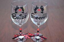 Disney Bride and Groom, Wine Glass set