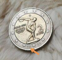 ____2 Euro Münze____ (❕FEHLPRÄGUNG❕) Griechenland 2004 (Athens) Gedenkmünze