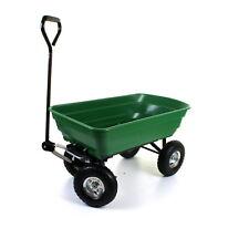 Outdoor Garden Heavy Duty 4 Wheel Trolley Cart Wheelbarrow Dump Truck Tipper NEW