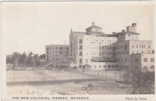 RPPC,Nassau,Bahamas,New Colonial Hotel,Tennis Courts,Sands Photo,Caribbean,1920s