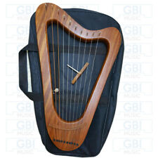 10 strings Lyre HarpRosewood Triangle Design Free Bag Tuning key and Strings