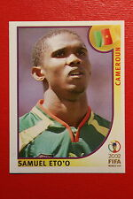 PANINI KOREA JAPAN 2002 # 383 CAMEROUN ETO'O WITH BLACK BACK MINT!!!