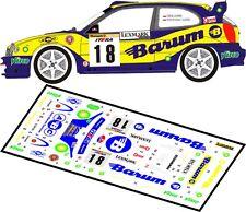 DECALS 1/43 TOYOTA COROLLA WRC - #18 - KULIG - RALLYE BARUM ZLIN 2003 - D43045