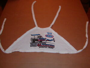 Vintage NHRA 70's + 80's Drag Racing halter tops and woman's T-shirts - lot of 9