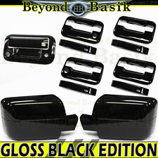 04-08 FORD F150 GLOSS BLACK Door Handle 2 KH no KP+Mirror+Tailgate w/Cam Covers