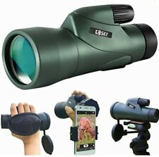 Gosky 12x55 High Definition Monocular Telescope and Quick Smartphone Holder -