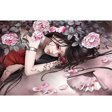 Wooden Jigsaw Puzzle 1000 PCS Rose Flower Tattoo Gril Cartoon Painting Art Decor