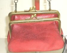 Kenneth Cole Double Frame Evening Bag Wedding Purse Bridal Prom, Party Bag, Red