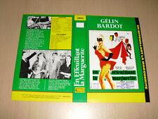 JAQUETTE VHS En effeuillant la marguerite Brigitte Bardot Daniel Gélin
