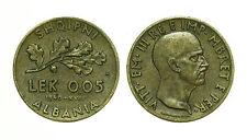 pcc1561_5)  Albania Vittorio Emanuele III 0,05 Lek 1940 KM 27